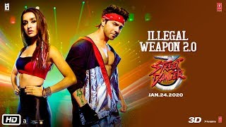 Illegal Weapon 2.0 - Street Dancer 3D Hindi  1080p | 720p |480p | mp4 | mp3 Song Video Download