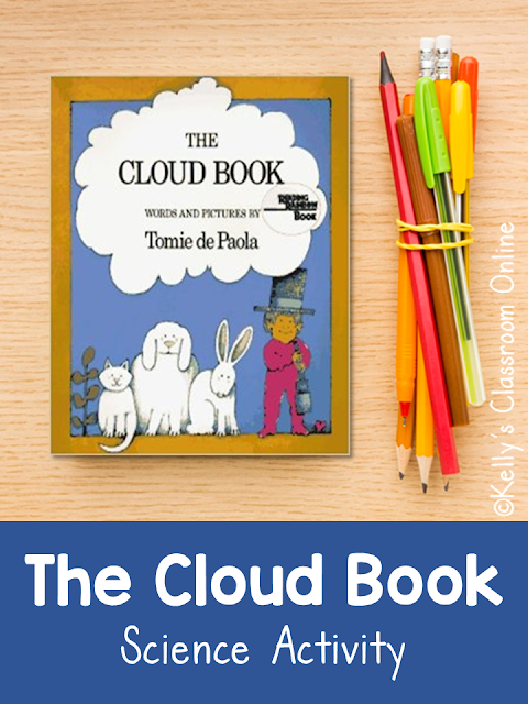 Learn about the different types of clouds with The Cloud Book written and illustrated by Tomie dePaola then make a model with this simple craftivity.