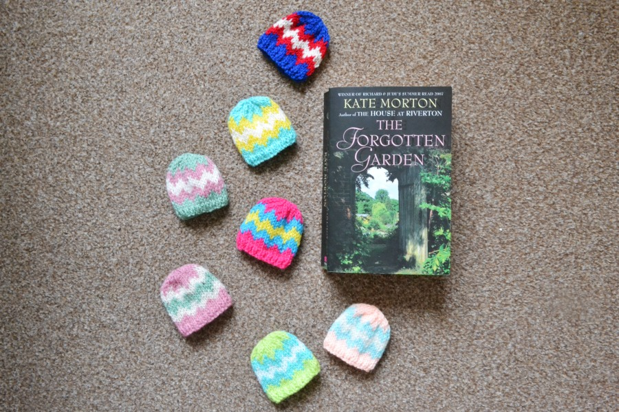 knitting reading charity knits commit to knit tiny hats egg cosy kate morton the forgotten garden
