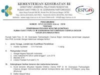 Penerimaan Pegawai Non PNS (Kontrak) Rumah Sakit Paru Dr M Goenawan Partowidigdo Cisarua Bogor Tahun 2019 Angkatan 4