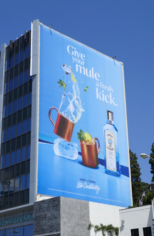 Bombay Sapphire Give your Mule a fresh kick billboard