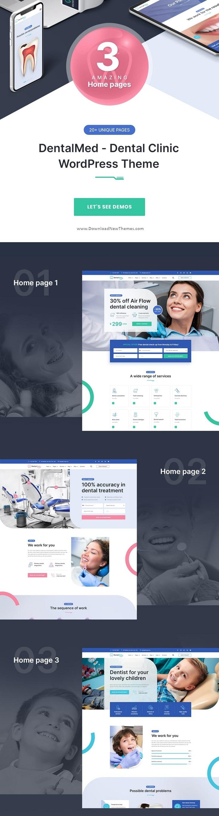 Dental and Dentist Clinic WordPress Theme