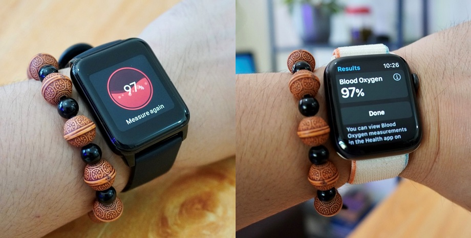 SpO2 Reading: realme Watch 2 vs Apple Watch Series 6