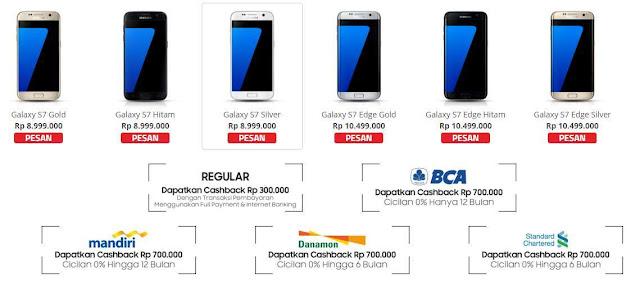 Sasmung Galaxy S7 dan S7 Edge sudah tersedia di Indonesia, harga mulai 9 - 11 jutaan