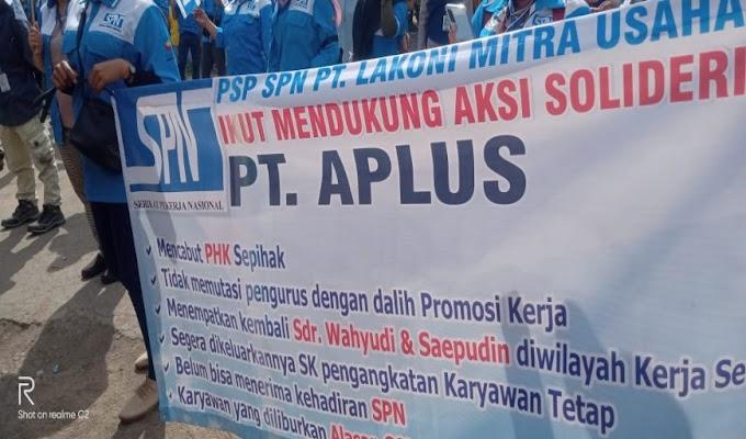 Diduga PHK Sepihak, PT. Aplus Fasifik di Demo SPN Lebak