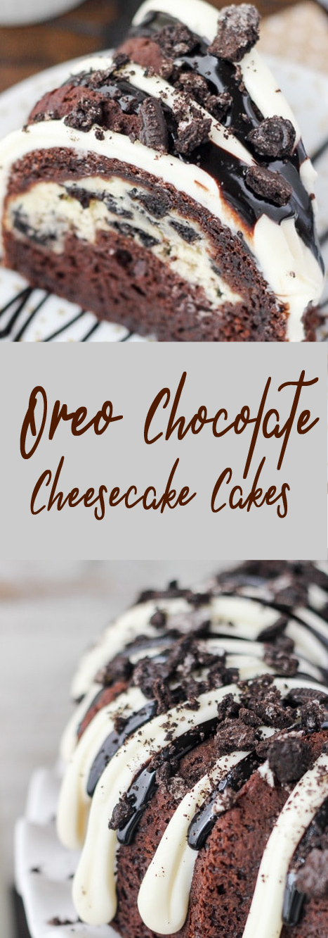 Oreo Chocolate Cheesecake Cake #cakes