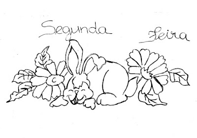 semaninha de coelhos e flores segunda feira