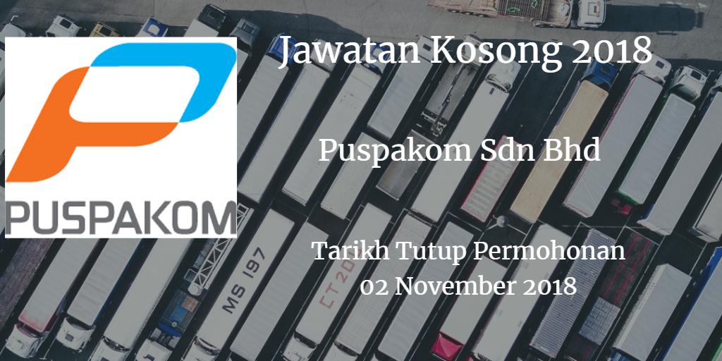 Jawatan Kosong Puspakom Sdn Bhd  02 November 2018