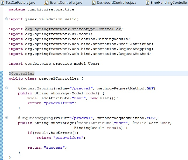 Java And Spring Spring Mvc Model Attribute