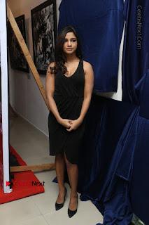 Telugu Actress Kamna Singh Stills in Black Dress at Bharat Thakur Art Exhibition Launch  0196.jpg