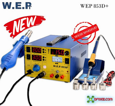 WEP 3in1 Blower Uap Power Supply Soldering Station 853D Plus