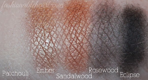 swatches Patchouli Ember Sandalwood Rosewood Eclipse