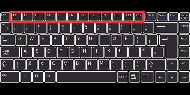 tombol F1 sampai F12 pada keyboard