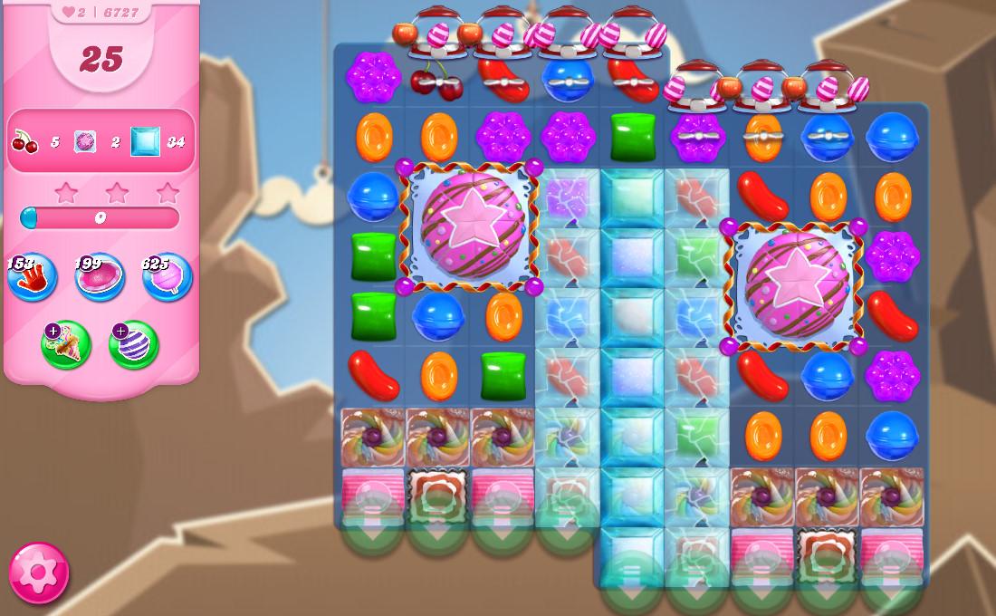 Candy Crush Saga level 6727