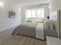 Gray bedroom color with minimalist design