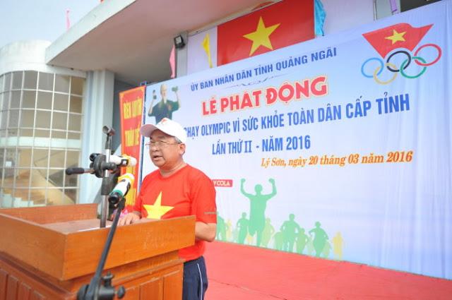 Ông Phạm Văn Tuấn - phó tổng cục trưởng Tổng cục TDTT phát biểu tại lễ phát động.