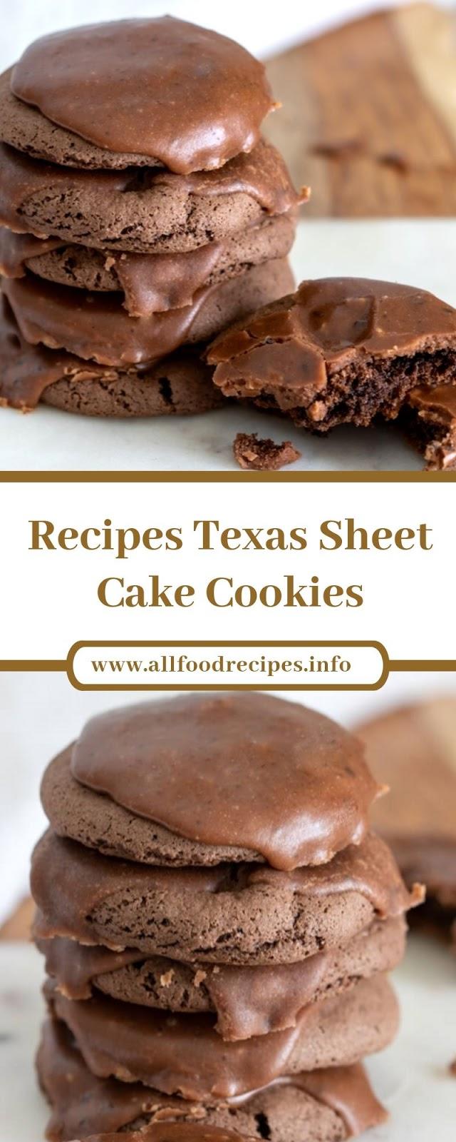 Recipes Texas Sheet Cake Cookies