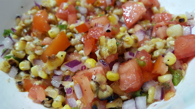 Grilled Corn and Tomato Relish