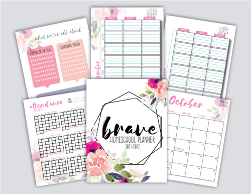 Brave Homeschool Planner 2021-20221