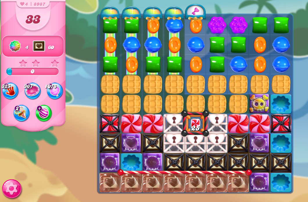 Candy Crush Saga level 8987