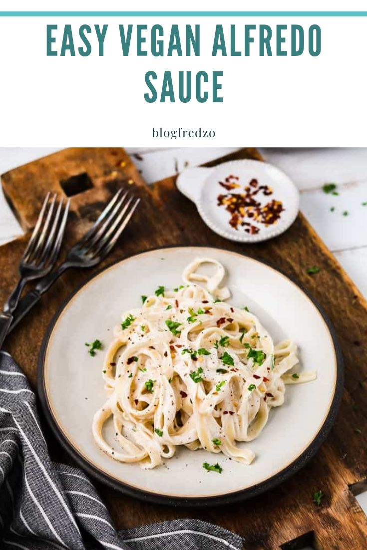 For a winning meal, serve this Easy Vegan Alfredo Sauce topped on freshly-cooked pasta. It'll be a surefire hit with a hungry crowd and will take you no time at all. Just 25 minutes! The base is made with cauliflower and cashews which creates and ultra-creamy and luxurious sauce.