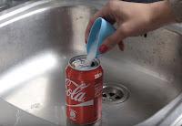 experimento, mezcla, coca cola, sal