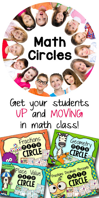 Math Circles - research proves getting students physically active while learning math concepts helps them retain information learned.