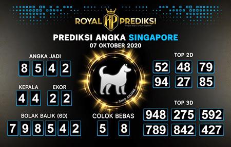 Royal Prediksi SGP Rabu 07 Oktober 2020