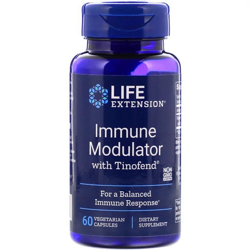 Life Extension, Tinofend, иммуномодулятор, 60 растительных капсул