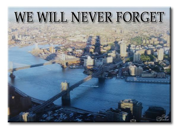 """World Trade Center Shadows """"We Will Never Forget"""""""