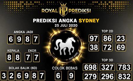 Royal Prediksi Sydney Sabtu 25 Juli 2020