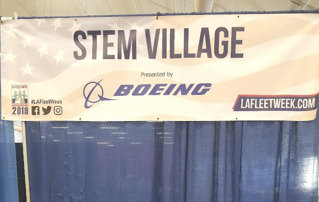 LA Fleet Week 2019 LA Waterfront San Pedro Port of Los Angeles, California STEM Village Sponsored by Boeing