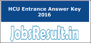HCU Entrance Answer Key 2016