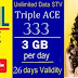 BSNL revised 3GB per day offering Unlimited data pack Triple ACE 333 validity from 17th June, 2017