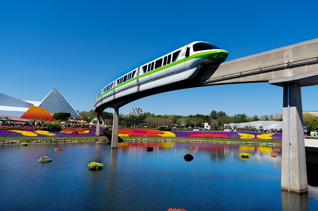 Our Ideal 1-day Disney World Itinerary - Epcot Monorail