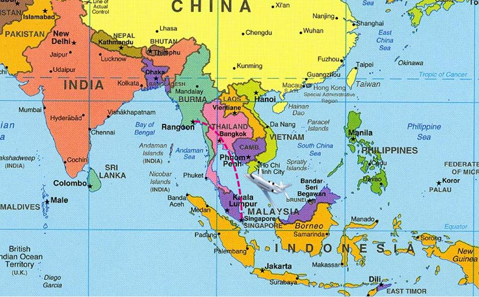 Hong Kong Singapour Carte.Carte Asie Singapour