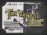 Concierto de Tim Vantol, The Big bench, John Allen y Oldlace Nest en Fun House