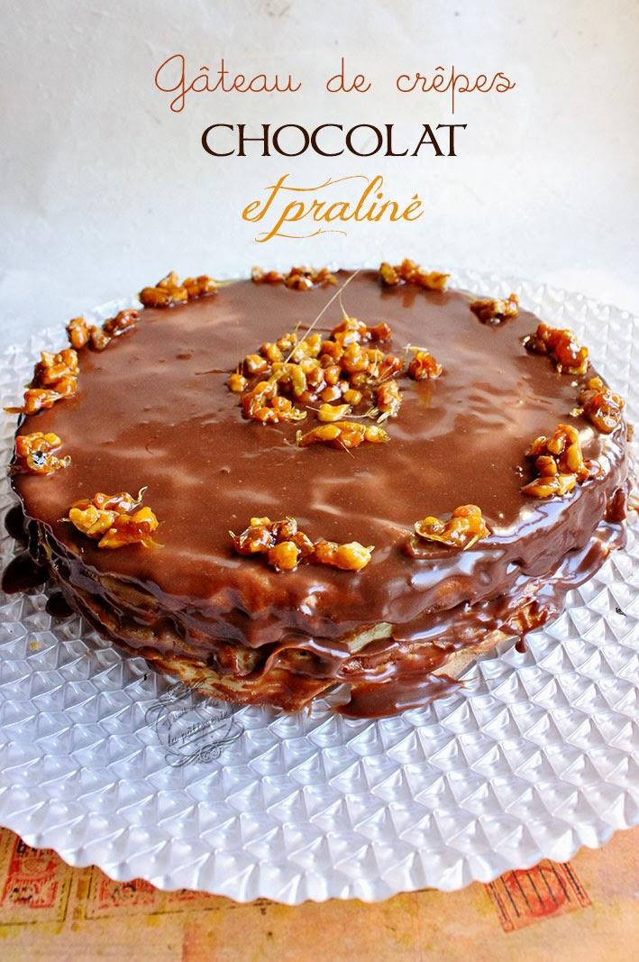 gateau de crépes chocolat et praliné