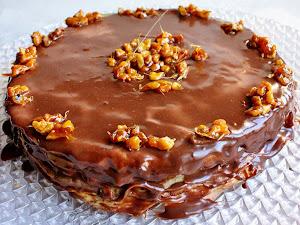 Gâteau de crêpes chocolat et praliné