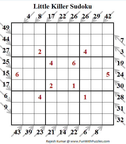 Little Killer Sudoku (Puzzles for Teens #139)