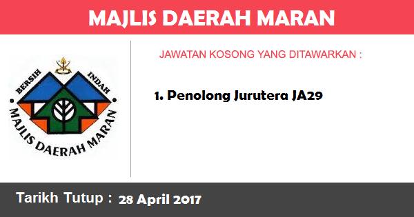 Jawatan Kosong di Majlis Daerah Maran
