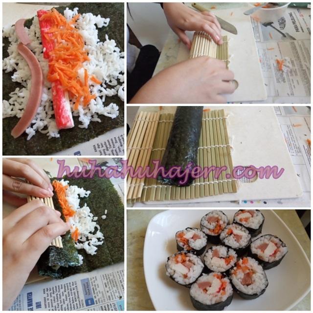 Cara Membuat Kimbap Ringkas Dan Sedap Dengan Resepi Simple..
