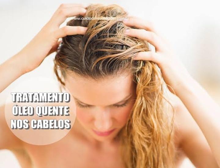 Tratamento com óleo quente para cabelos