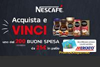 """Concorso """"Nescafè Dimar Mercatò """" : in palio 200 buoni spesa da 25 euro"""