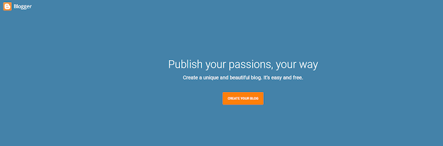 Blogger a Platform to create a free blog or make a free Web page websites