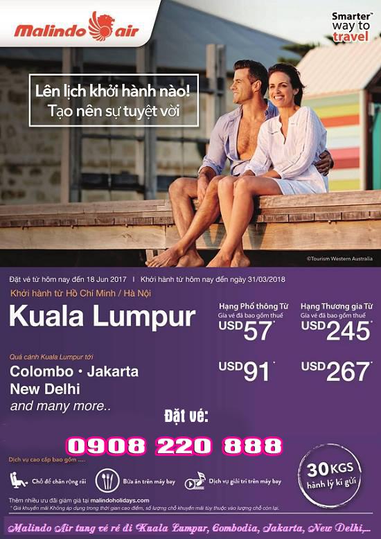 Malindo Air khuyến mãi đi Kuala Lumpur giá chỉ từ 57 USD