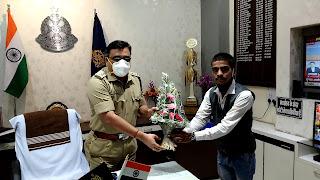 सरदार वल्लभ भाई पटेल स्मृति में राष्ट्रीय एकता दिवस उज्जैन पुलिस अधीक्षक कार्यालय पर मनाया