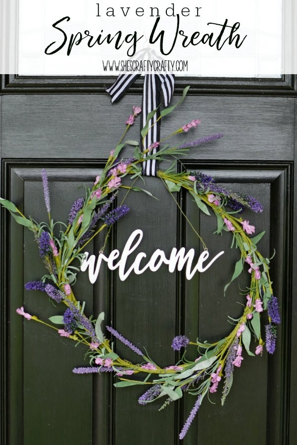 wreath, lavender, Spring, front door