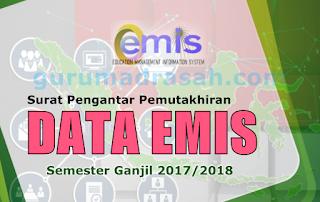Pemutakhiran Data Emis Semester Ganjil TP 2017/2018