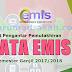Surat Pengantar Pemutakhiran Data Emis Semester Ganjil TP 2017/2018